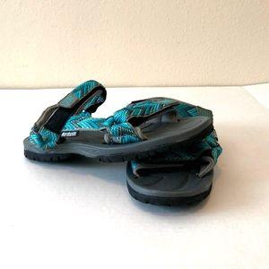 NEW Women/'s NORTHSIDE Black//Pink  Athletic Water Aqua Sandals Shoes SZ 5